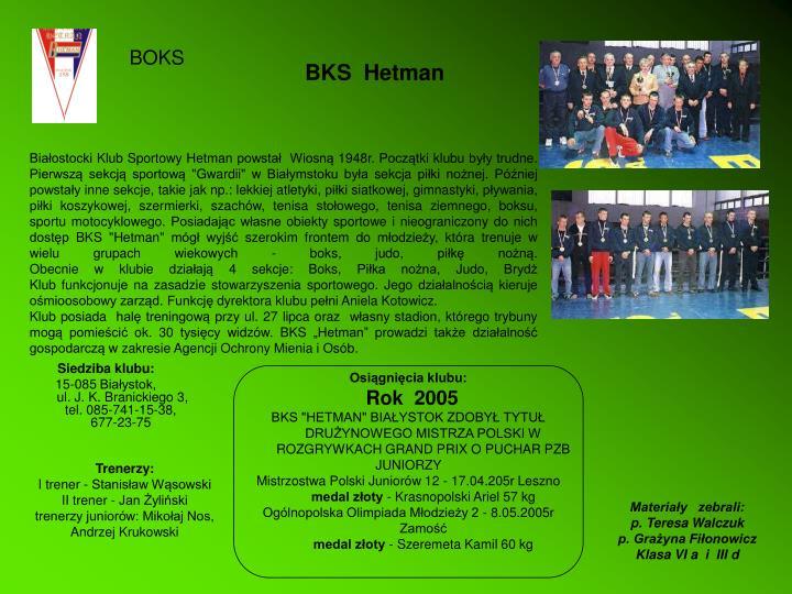 BKS  Hetman