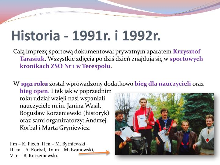 Historia - 1991r. i 1992r.