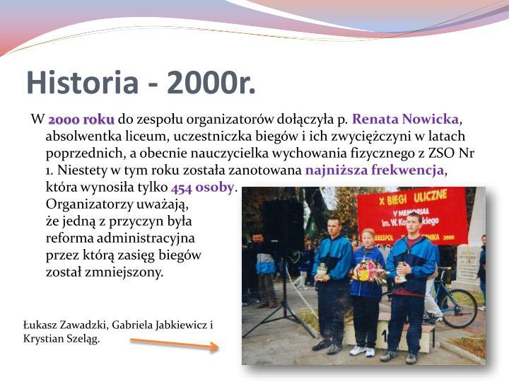 Historia - 2000r.