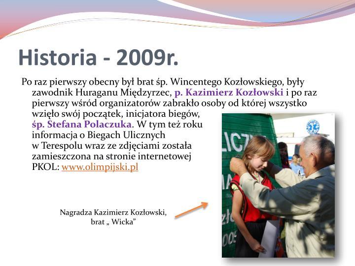 Historia - 2009r.