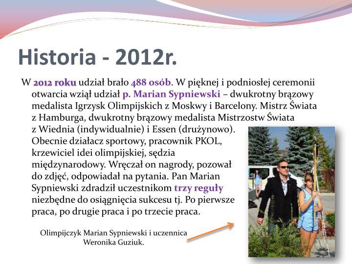 Historia - 2012r.