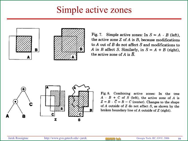 Simple active zones