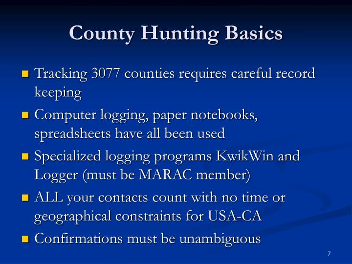 County Hunting Basics