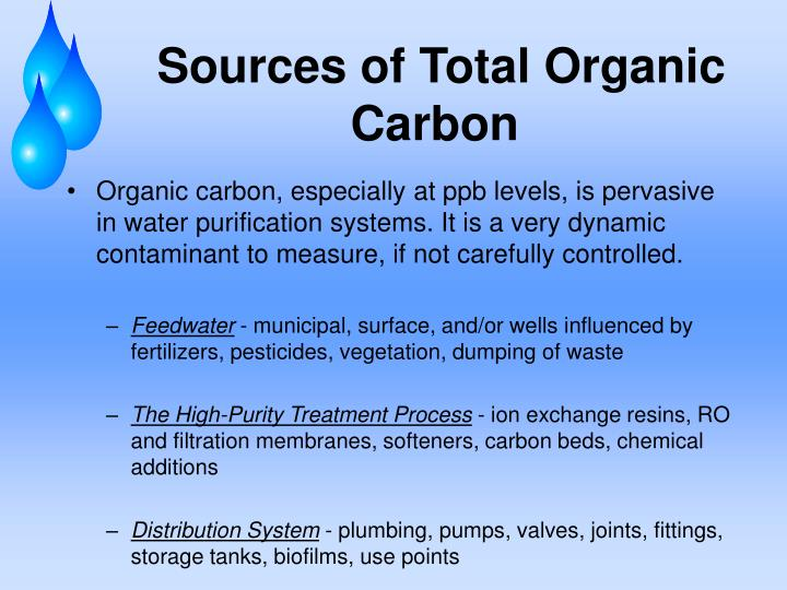 Sources of Total Organic Carbon