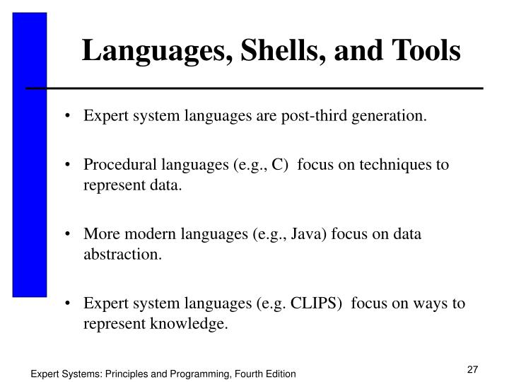 Languages, Shells, and Tools
