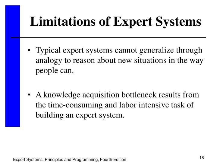 Limitations of Expert Systems