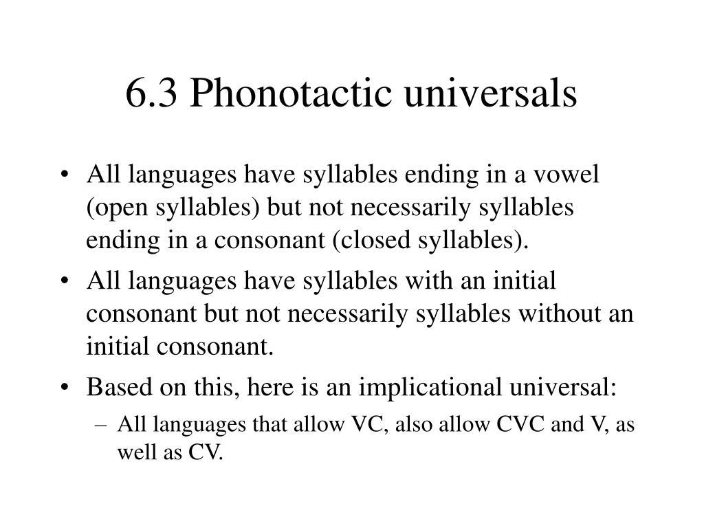 PPT - Language Universals PowerPoint Presentation - ID:3626573