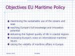 objectives eu maritime policy
