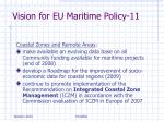 vision for eu maritime policy 11