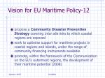 vision for eu maritime policy 12