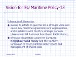 vision for eu maritime policy 13