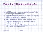 vision for eu maritime policy 14