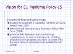 vision for eu maritime policy 15