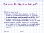 vision for eu maritime policy 17
