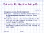 vision for eu maritime policy 19