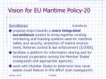 vision for eu maritime policy 20