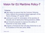 vision for eu maritime policy 7