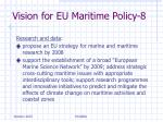 vision for eu maritime policy 8