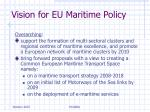 vision for eu maritime policy