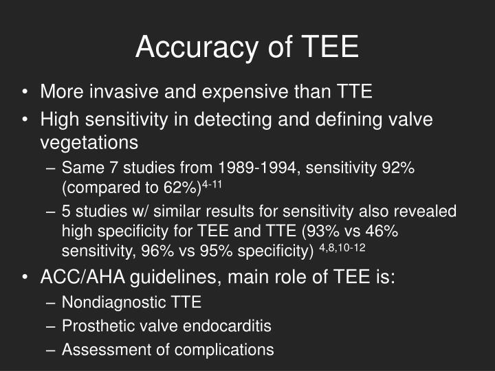 Accuracy of TEE