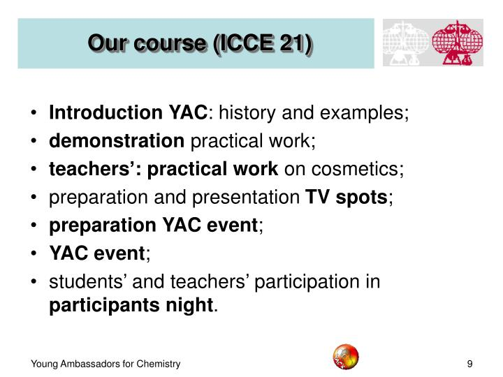Our course (ICCE 21)