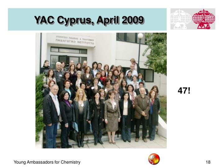 YAC Cyprus, April 2009