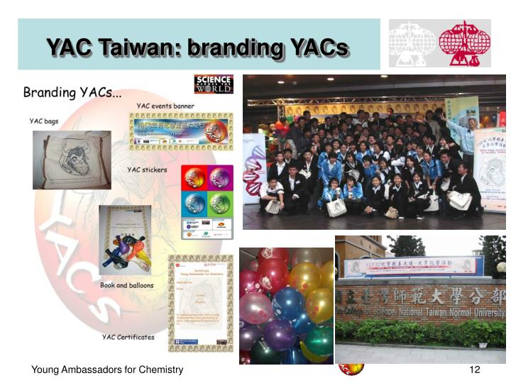 YAC Taiwan: branding YACs