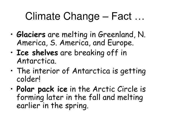 Climate Change – Fact …