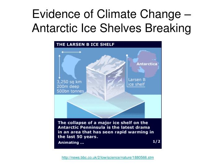 Evidence of Climate Change – Antarctic Ice Shelves Breaking