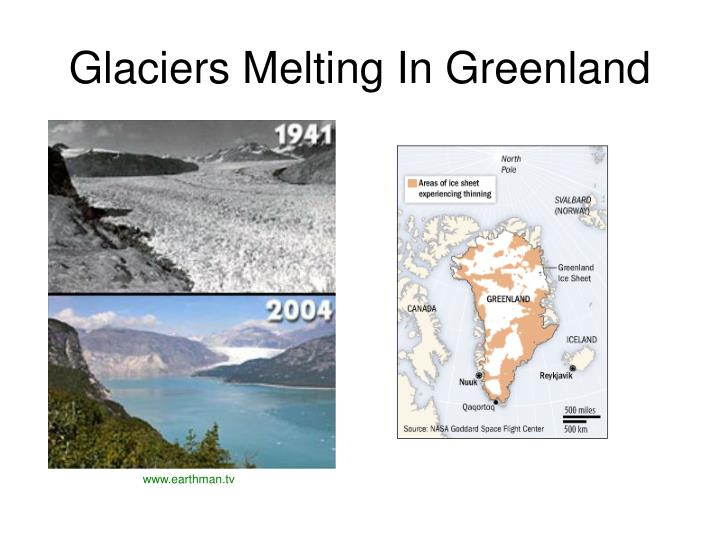 Glaciers Melting In Greenland