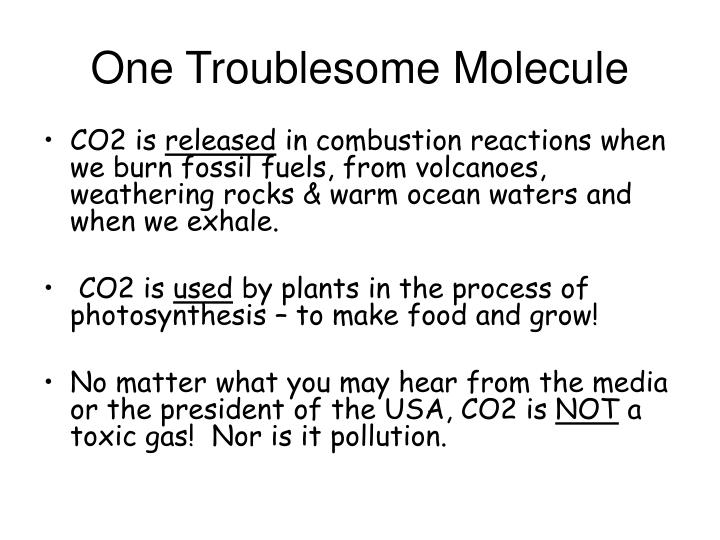 One Troublesome Molecule