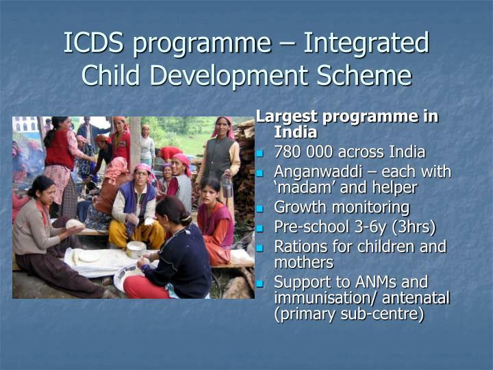 ICDS programme – Integrated Child Development Scheme