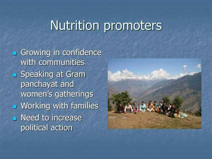 Nutrition promoters