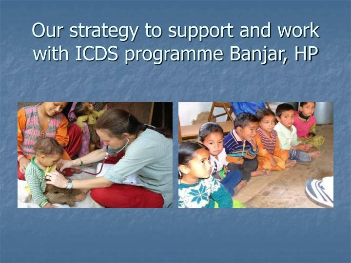 Our strategy to support and work with ICDS programme Banjar, HP
