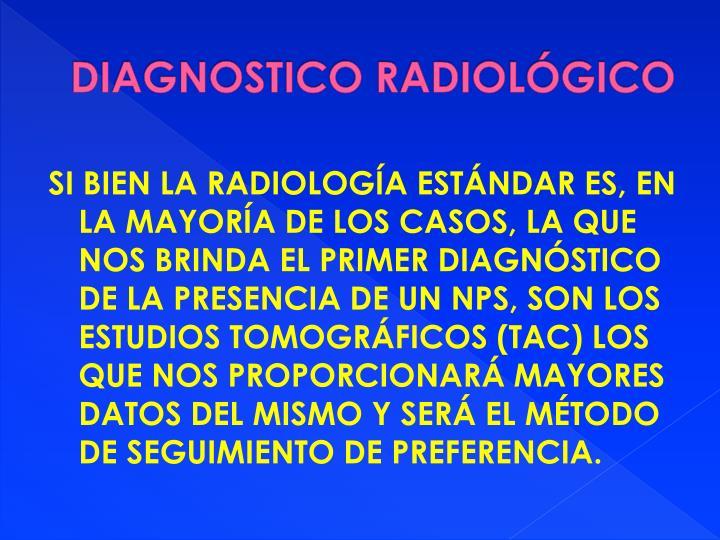 DIAGNOSTICO RADIOLÓGICO