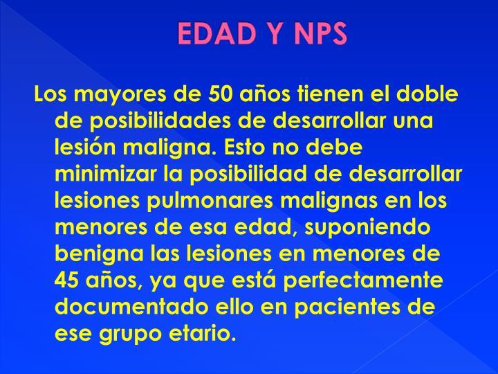 EDAD Y NPS