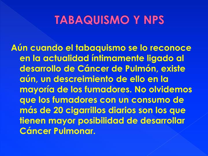 TABAQUISMO Y NPS