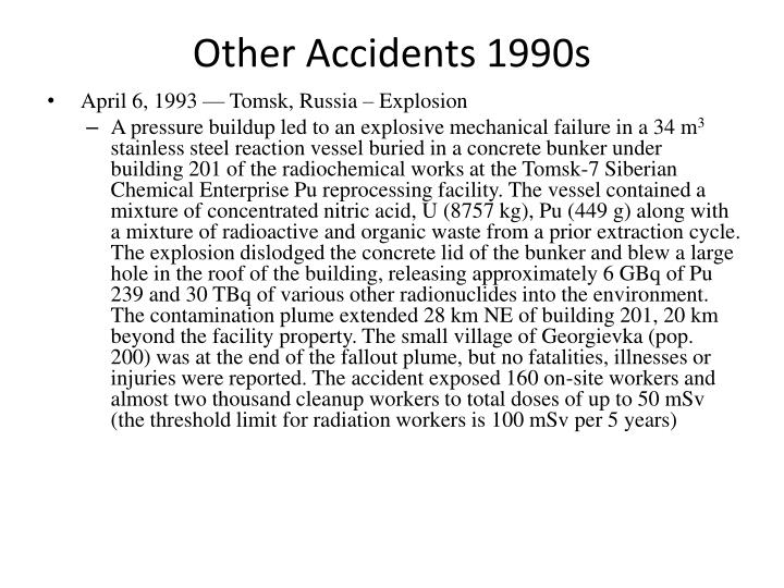Other Accidents 1990s