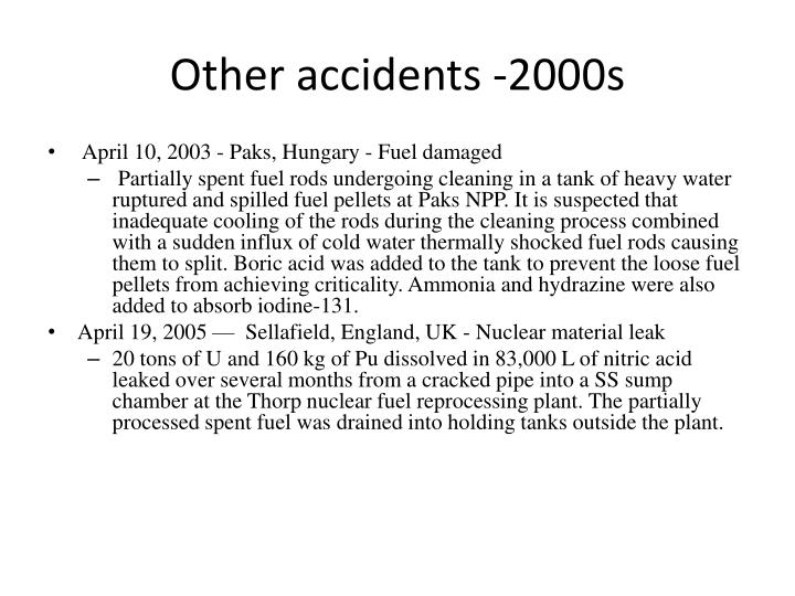 Other accidents -2000s
