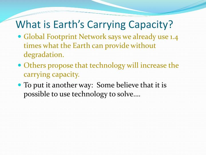 What is Earth's Carrying Capacity?