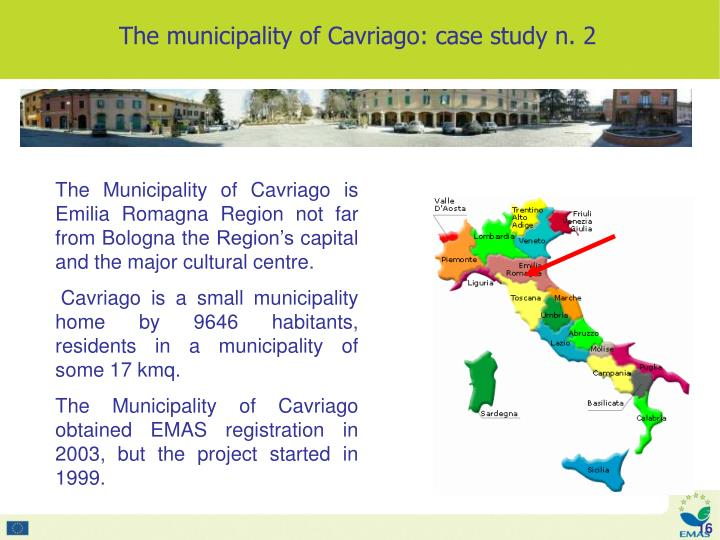 The Municipality of Cavriago is Emilia Romagna Region not far from Bologna the Region's capital and the major cultural centre.
