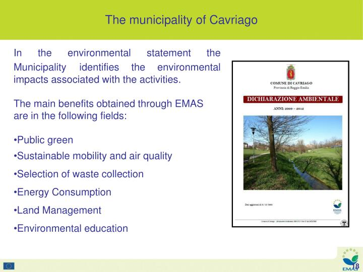 In the environmental statement the