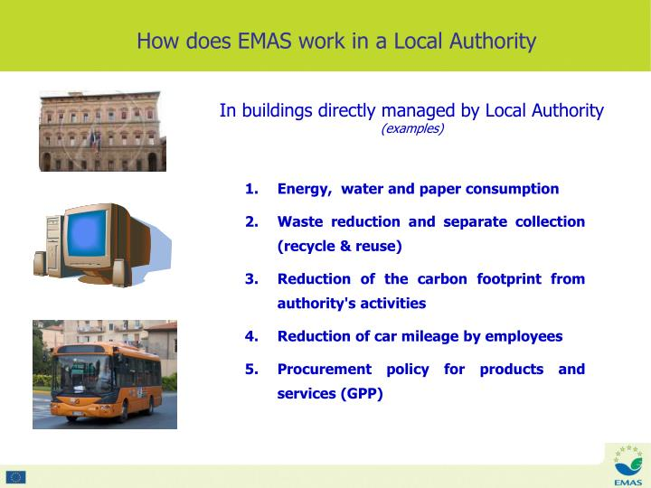 In buildings directly managed by Local Authority