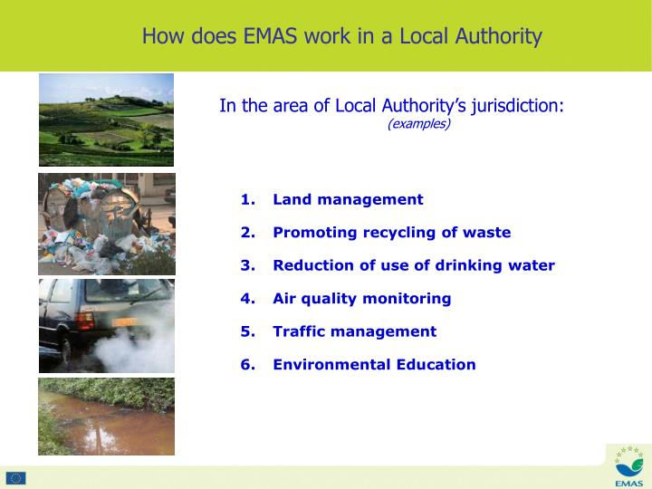 How does EMAS work in a Local Authority