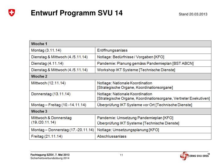 Entwurf Programm SVU 14