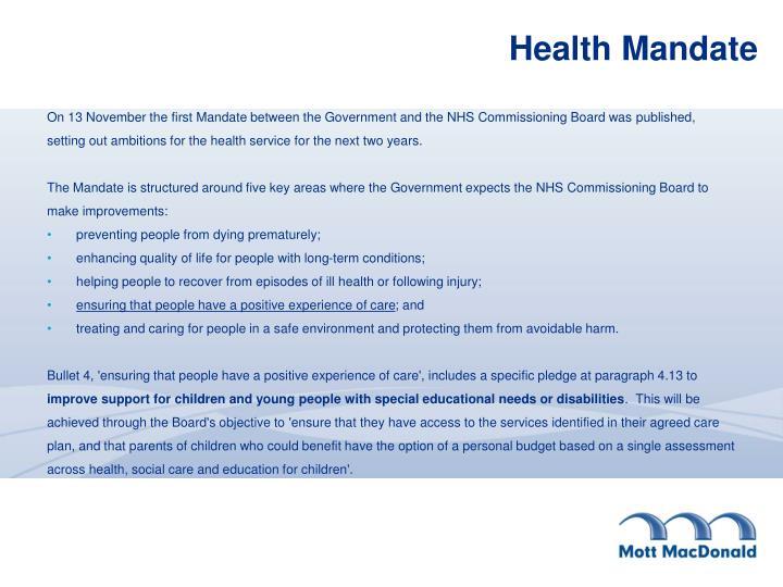 Health Mandate