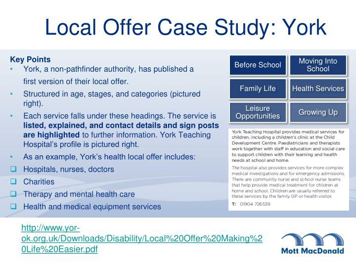 Local Offer Case Study: York