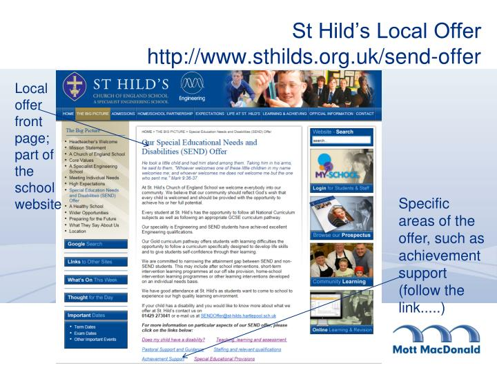 St Hild's Local Offer
