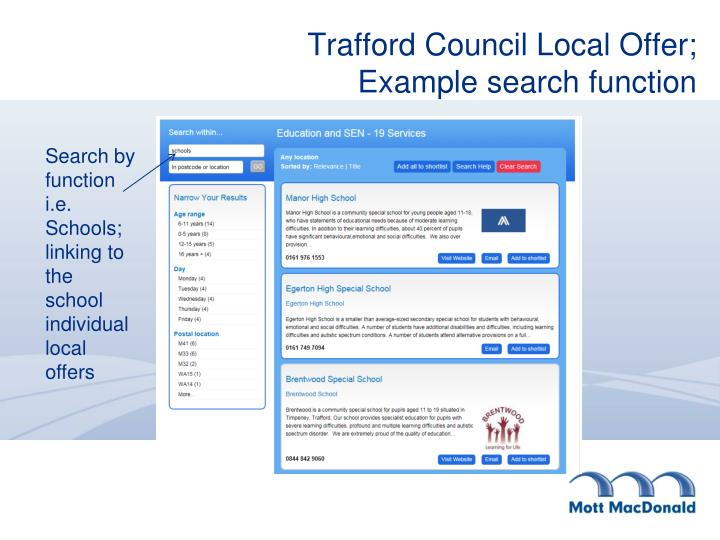 Trafford Council Local Offer;
