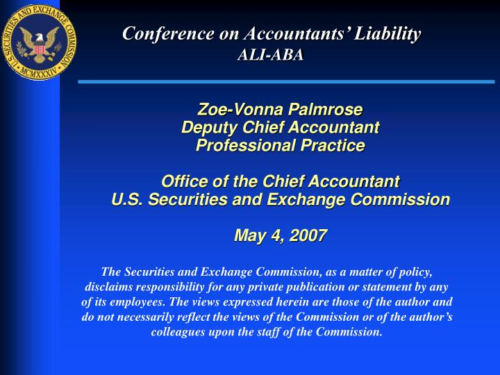 Conference on accountants liability ali aba